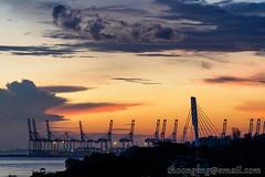 Singapore Cruise Centre sunset Dec '15 (knowenoughhappy) Tags: cruise sunset landscape twilight singapore long exposure december dusk centre center dec harbourfront 2015