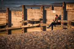 Barbour, booze and an electronic book. Just your typical Whitstable sunset! (Red Tie Photography) Tags: sunset beach kent jon whitstable jonl niksoftware jonlambert redtiephotography