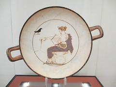 Shallow bowl - kylix - with Apollo and a blackbird (Monceau) Tags: delphi greece delphiarchaeologicalmuseum