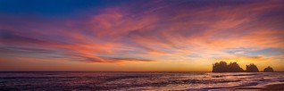 View Large!!! Mega Pano Sunset, First Beach, Olympic Peninsula