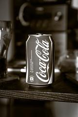Coke (Mr.dp0) Tags: bw white black cola drink coke can canned soda coca