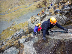 Honister_Via Ferrata (15 of 73) (Kevin John Hughes) Tags: bridge england lake snow mountains net landscape scary burma rope cargo climbing pike keswick buttermere honister dostrict fleetwith mountineering