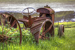 Retired (Paul Rioux) Tags: old tractor abandoned rust outdoor decay farm equipment rusted rusting agriculture retired decayed decaying implement prioux