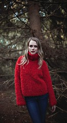 Red fashion knitwear (Mytwist) Tags: red hairy woman hot sexy classic wool girl fashion lady female fetish vintage design cozy sweater fuzzy traditional handknit style passion redhot timeless handcraft slave laine vouge handknitted sweatergirl knitwear cabled polojumper strikk woolfetish handgestrickt