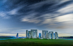 Game of Stones (Jerry Fryer) Tags: lightpainting night stars fullmoon stonehenge leds comet prehistoric trespassing securityguards 5dmk2 ef24mmf14lll