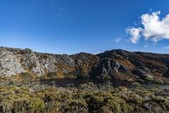 Crater Lake, Tasmania (Steven Penton) Tags: park mountain lake stclair australia national crater tasmania cradle