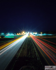 Ludicrous Speed (1300 Photography) Tags: road cars night lights slowshutter interstate trafic i44