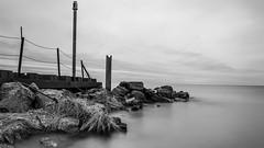 Black and White (randyr photography) Tags: longexposure blackandwhite monochrome rocks lakemichigan muskegon lakeharbor puremichigan leebigstopper lovemuskegon