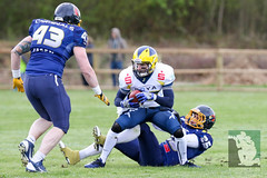 "GFL2 Hildesheim Invaders vs. Assindia Cardinals (Testspiel) 24.04.2015 037.jpg • <a style=""font-size:0.8em;"" href=""http://www.flickr.com/photos/64442770@N03/26674254325/"" target=""_blank"">View on Flickr</a>"