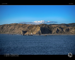 Pencarrow XXIII (tomraven) Tags: blue sky sun lighthouse mountains ferry clouds lumix harbor harbour bluesky wellington bluebridge bluesea gx8 pencarrow tomraven aravenimage q22016