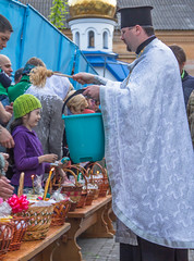 Overly Blessed.jpg (Roblawol) Tags: holiday church water girl face easter europe candle basket ukraine holy priest orthodox easterbasket orthodoxeaster zhytomir zhytomyr