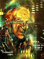 Paul 'Don' Smith (Draopsnai) Tags: portrait streetart graffiti mural shoreditch hackney defacedart kojak pauldonsmith