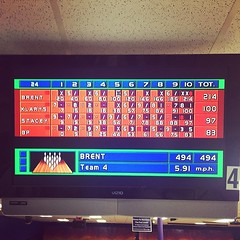 I bowled a 214!!!! AAAHHHHH!!!! #bowling... (singingaggie) Tags: bowling shocked 200club uploaded:by=flickstagram instagram:photo=8423626679928703314714346
