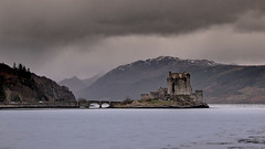 Eilean Storm (TheWildFireOne) Tags: winter sky mountain mountains castle water clouds scotland highlands highland loch eilean donan 500px