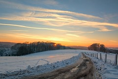 Evening Light (impossiblejoker) Tags: schnee winter light sunset snow nature germany landscape deutschland evening nikon natur nrw sauerland kierspe d7100