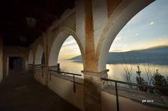 Eremo di Santa Caterina del Sasso (gbistoletti) Tags: panorama lago italia nuvole maggiore tramonti lombardia leggiuno provinciadivarese