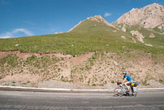 Asphalt road  - next pass (Michal Pawelczyk) Tags: road trip holiday bike bicycle june nikon asia flickr aim centralasia pamir wakacje 2015 czerwiec azja d80 pamirhighway azjasrodkowa azjacentralna