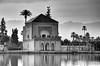 Menara Gardens / Pavilion (Images George Rex) Tags: bw lake reflections ma morocco maroc marrakech pavilion marrakesh menaragardens jardinmenara minzah imagesgeorgerex photobygeorgerex
