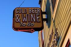 Drinks on the house... (Timo Juhani) Tags: beer sign neon wine neonsign mapleridge haney beerwine billyminerpub billyminer billymineralehouse