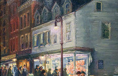 Sloan, Bleecker Street, Saturday Night (detail), 1918