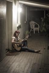 Verandah (Bobby (shoot) MacRae) Tags: summer night rural lowlight guitar cottage australia singer verandah countrylife rurallife