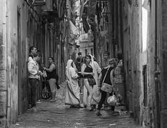 DSC05739_ep3_gs (Eric.Parker) Tags: italy italia naples napoli 2014 europe spaccanapoli graffiti bw lane nun baby alley sistersofmercy motherteresa madonna