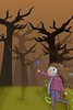 in the woods (nada.musleh) Tags: bird girl fog illustration woods عصفور ضباب رسم غابة فتاة ندىمصلح nadamusleh