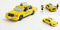 Ford Crown Victoria NYC taxi (Mad physicist) Tags: newyork ford car lego taxi victoria american crown