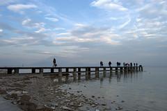 Strada verso l'infinito (mttdlp) Tags: lago pier garda nuvole cielo molo sirmione d3200