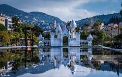 Chteau de Glace * Explore * (diabolomint) Tags: france reflection castle nice eau miroir chteau palmiers