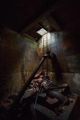 Exploring, (Daniel Seago) Tags: light dark underground moody decay textures ww2 ladder ww1 atmospheric
