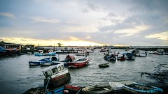 Paddy's hole Harbour! (ovington.kevin) Tags: sea sky boat fishing harbour dusk horizon nautical redcar