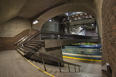 Station Monk (dazane1 (de retour)) Tags: montréal métro fisheeye granganglewideangle