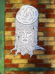 stumpy (PTR) Tags: streetart paris france pasteup pastedpaper canon paper graffiti sticker pasted stump ptr streetstuff