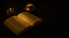 book, candle and coffee (1 von 1) (Stefan-Thimm) Tags: coffee book candle stillife