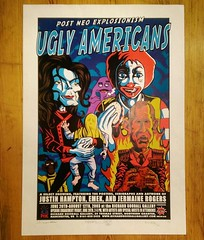"""Ugly Americans"" show poster, featuring Emek, Justin Hampton and Jermaine Rogers, currently in our massive sale! #SALE #pne #popculture #popart #art #print #mcdonalds #uglyamericans (richard goodall gallery) Tags: show justin our art print poster sale mcdonalds popart massive rogers hampton popculture pne currently jermaine emek featuring uglyamericans"