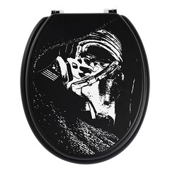 Kylo Ren Toilet Seat (tomtommilton) Tags: white black art painting bathroom star stencil funny artist hand force painted seat humor toilet humour ren wars awakens kylo
