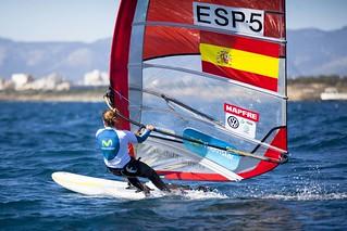 La windsurfista Movistar Marina Alabau
