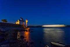 Stream Liner (Curtski22) Tags: longexposure nightphotography sea lighthouse norway nightlights no le shore nightsky nightphoto oslofjorden hurum buskerud filtvet filtvetfyr