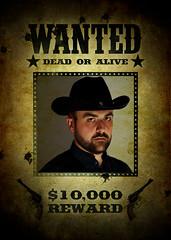 15301 - Old Cowboy Wanted (Diego Rosato) Tags: old wild portrait west hat dead nikon cowboy gimp 85mm diego wanted alive reward ritratto vivo morto cappello manifesto vecchio taglia selvaggio ricercato d700