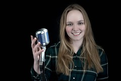 Bandaoke (e_impact) Tags: music girl rock happy singing young singer equality shure super55 bandaoke