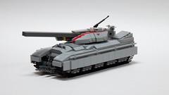 XT-176 Nandaki (John Moffatt) Tags: gun tank lego earth united tracks scifi maglev fi bang nations sci une railgun legotank