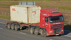 YX03 EBP (panmanstan) Tags: truck wagon motorway yorkshire transport container lorry commercial vehicle m62 daf xf