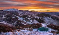 Ben A'an Sunrise (Steven Fergus) Tags: winter snow mountains beautiful landscape scotland scenery hillwalking aberfoyle wintercamping queenelizabethforrest benanan thetrossachslocharchray