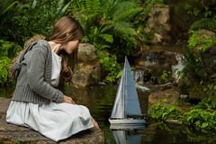 Ruby playing with Boat (TONY F WHITE) Tags: park portrait people girl female garden model workshop 24105mm naturallightportrait mtcootthabotanicalgardens canoneos7d ozlight ozlightphotoadventures rubydraper