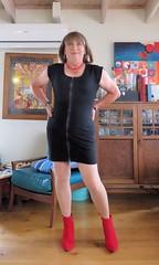 Black dress (Trixy Deans) Tags: hot cute sexy classic tv highheels cd crossdressing tgirl heels corset transgendered crossdresser crossdress shortskirts sexylegs transsexual classy shemale shortskirt sexyblonde shemales xdresser sexyheels crossdresse trixydeans sexytransvestite