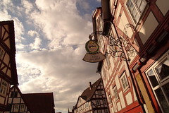 Melsungen (JoannaRB2009) Tags: street old winter weather architecture buildings deutschland town hessen cloudy historical hesse gemrany melsungen