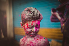 'HOLI'stic Anatomies (praveen.padmanabhan) Tags: pink blue red people india yellow festival kids eyes energy colours skin vibrant culture photojournalism documentary powder hues anatomy excitement chennai holi streetfestival vibrance photostory holistic candidphotography incredibleindia anatomies royapettah sowcarpet picturemakers holisticanatomy