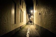 Love Cul-de-sac (Gilderic Photography) Tags: canon eos lights couple belgium belgique belgie brugge lovers bruges walls nuit culdesac 500d impasse gilderic