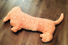 Basset Pillow - Back (made by mauk) Tags: dog pattern handmade plush pillow basset etsy patchwork
